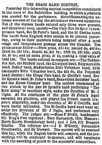 band contest october 1865